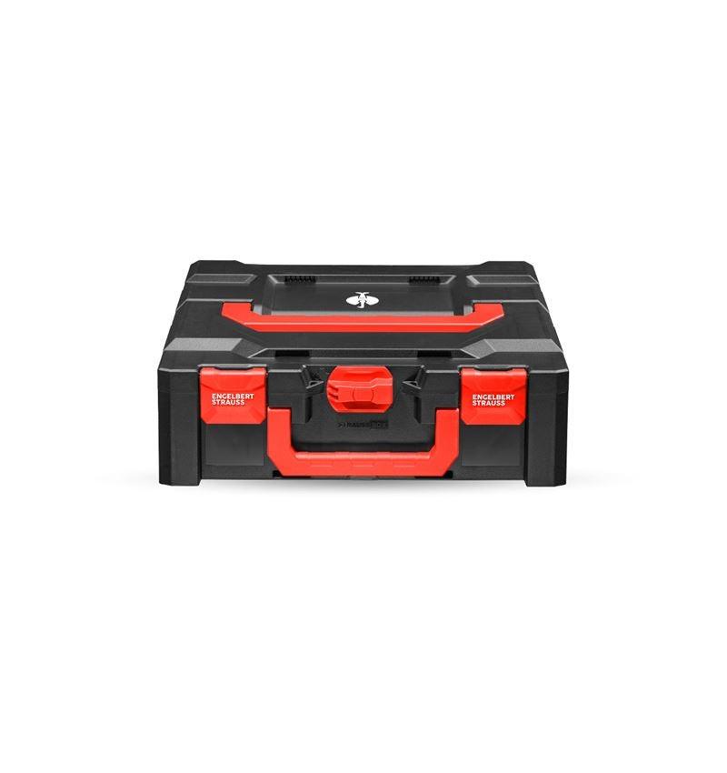 Verktygslådor: STRAUSSbox 145 midi+ + svart/röd