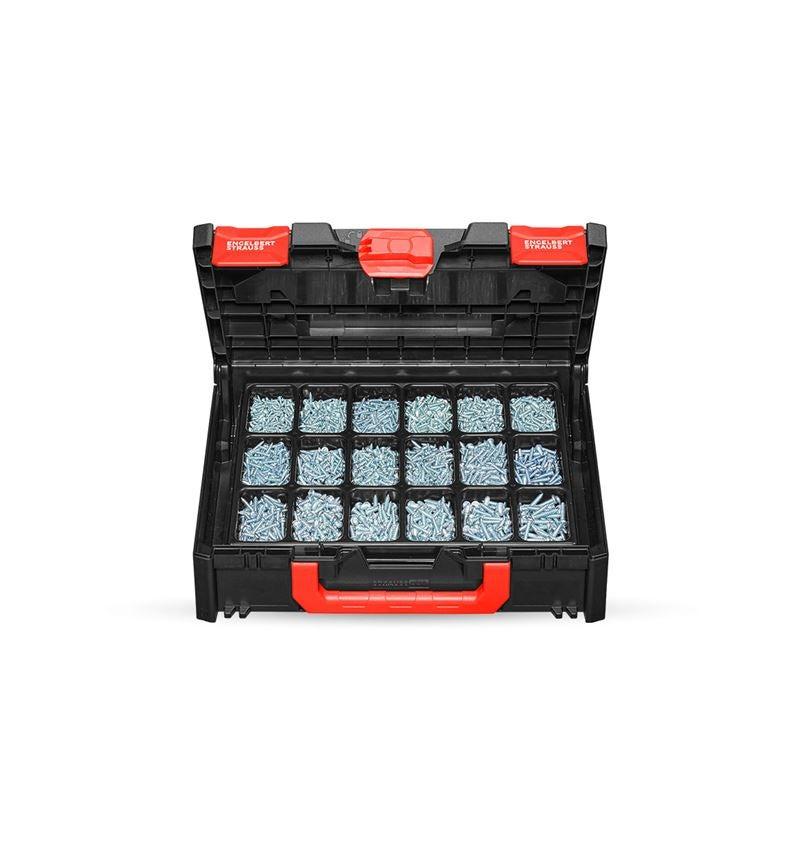 Skruvar: Plåtskruvar DIN 7981 förzinkade STRAUSSbox 118 mid