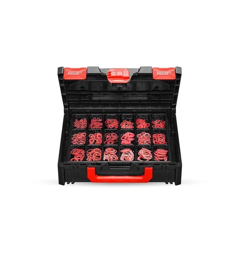 Smådelssortiment: Tätningsringar DIN 7603 i STRAUSSbox 118 midi