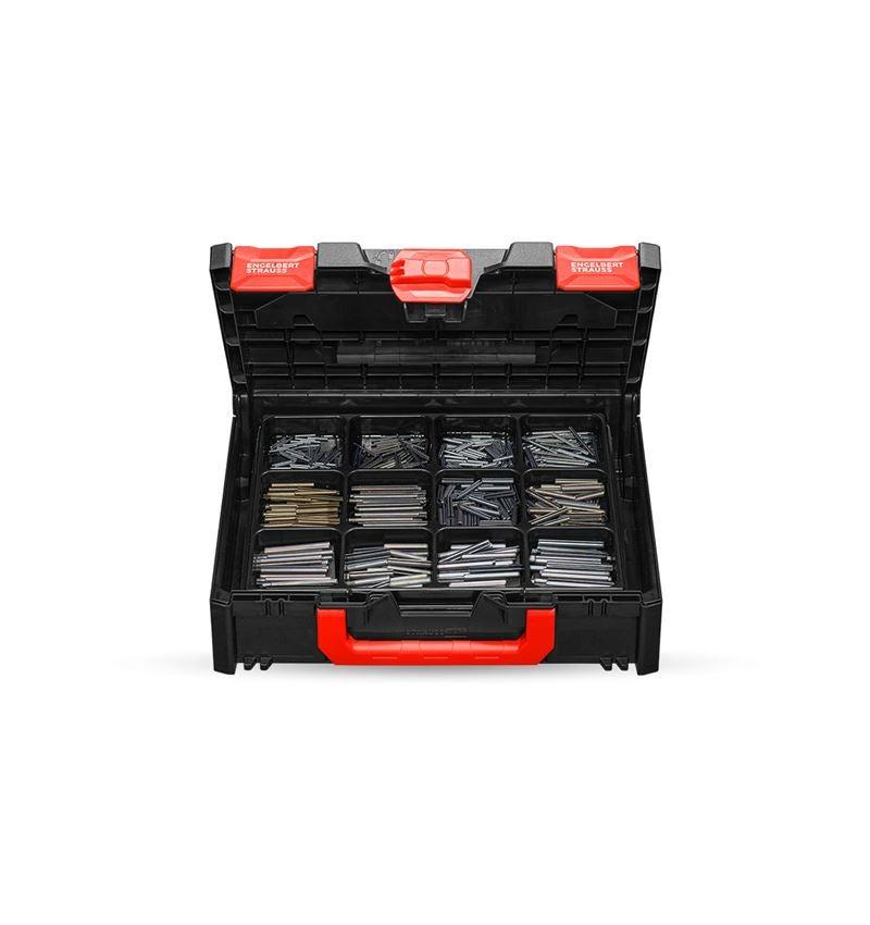 Smådelssortiment: Spännhylsor ISO 8752 i STRAUSSbox 118 midi
