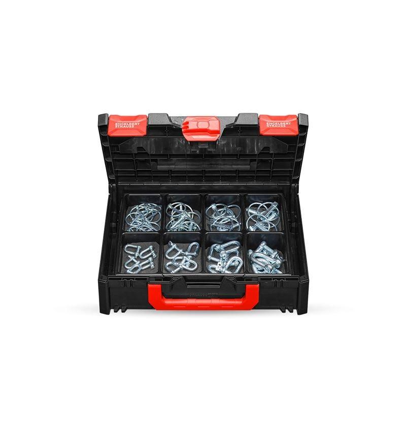 Smådelssortiment: Axelsprintar och schacklar i STRAUSSbox 118 midi