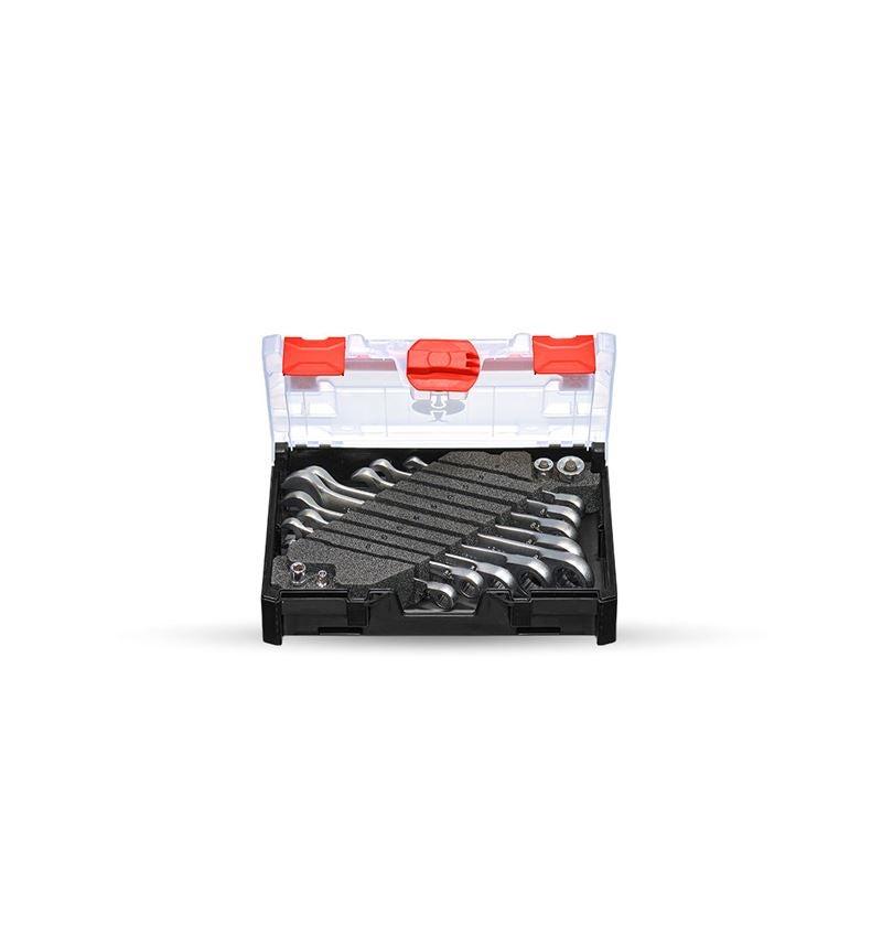 Skiftnycklar: Ratch-Tech-sats,omkopplingsbar i STRAUSSbox mini