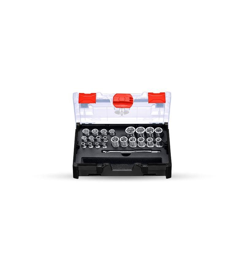 Hylsnyckel: Hylsnyckel-set power grip 1/2+1/4 i STRAUSSbox