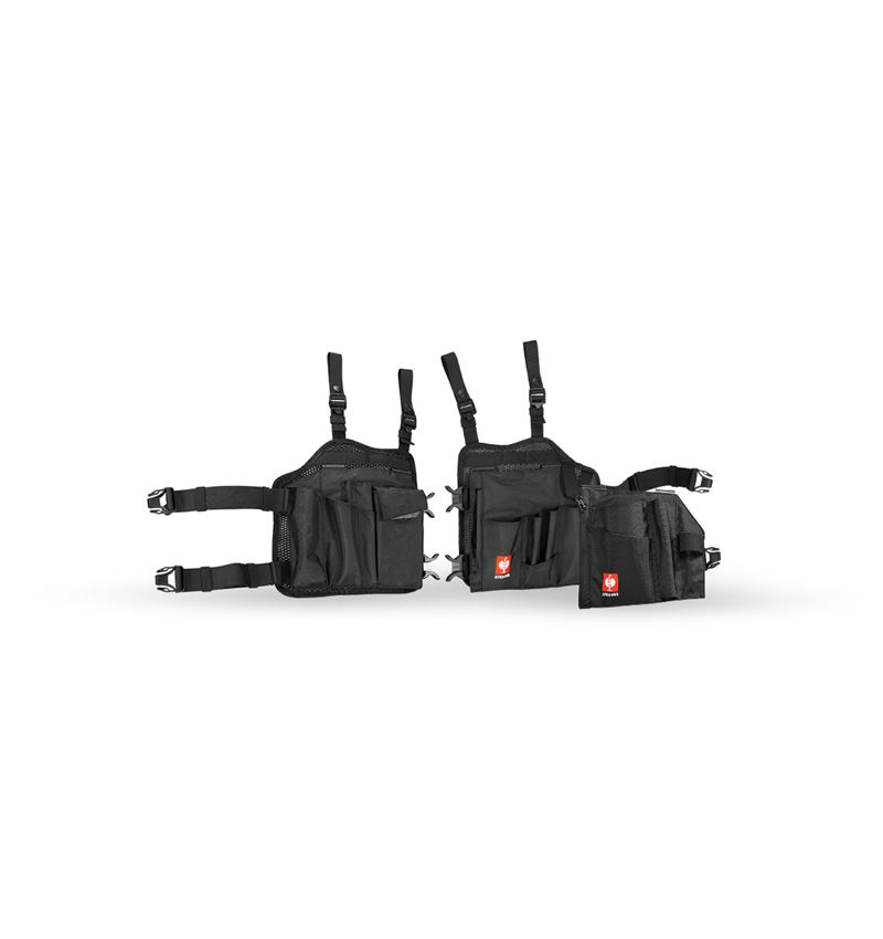 Accessoarer: e.s. verktygsfickor set Legpack + svart