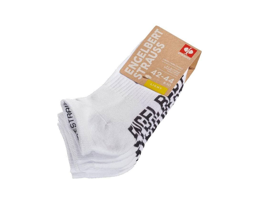 Socks: e.s. Allround socks Classic light/low + white