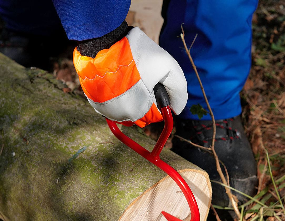 Läder: Läderhandskar för skärskydd i skogsbruk