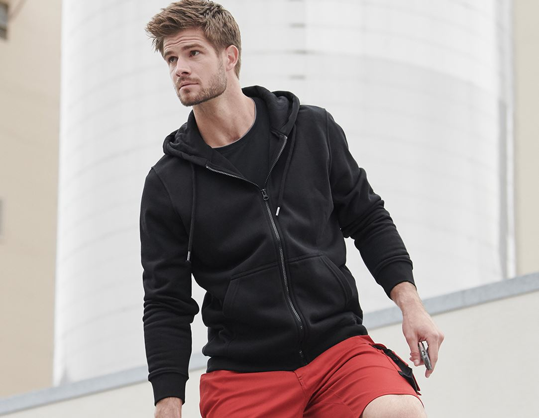 Shirts, Pullover & more: e.s. Hoody sweatjacket poly cotton + black