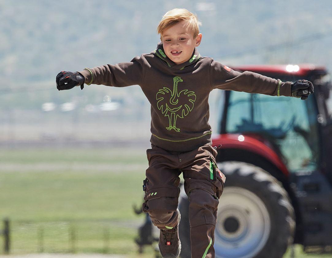 Överdelar: Hoody-Sweatshirt e.s.motion 2020, barn + kastanj/sjögrön 1