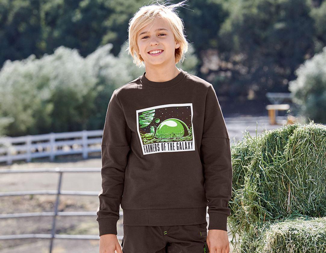 Överdelar: e.s. Sweatshirt Mission 2020, barn + kastanj