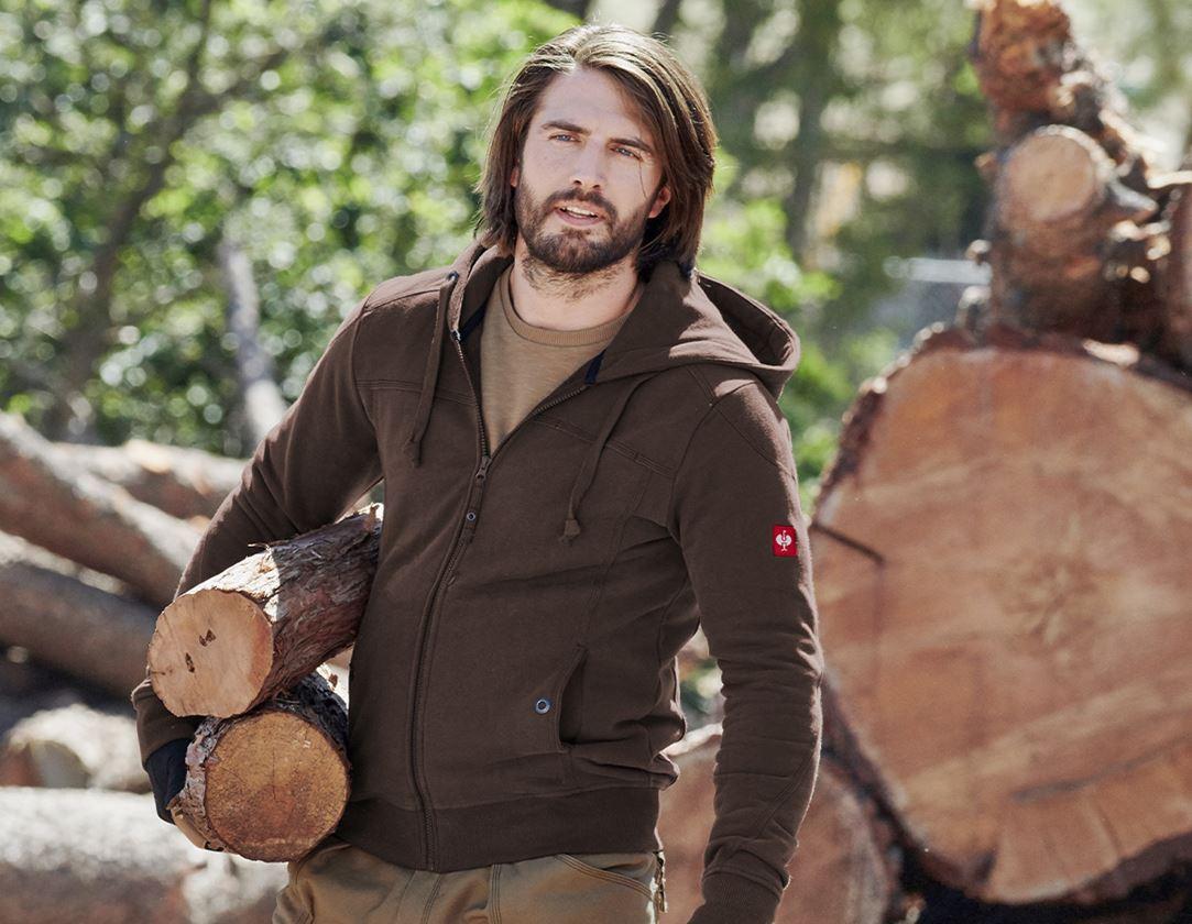 Shirts, Pullover & more: Hooded jacket cotton e.s.roughtough + bark