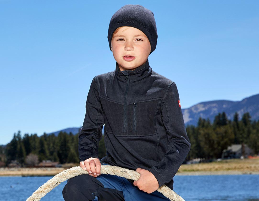 Överdelar: Troyertröja climacell e.s.dynashield, barn + pacific