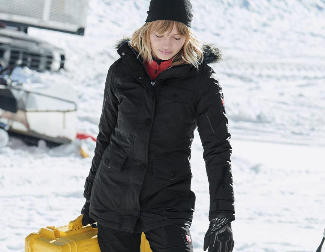 Arbetsjackor: Vinterparkas e.s.vision, dam + svart