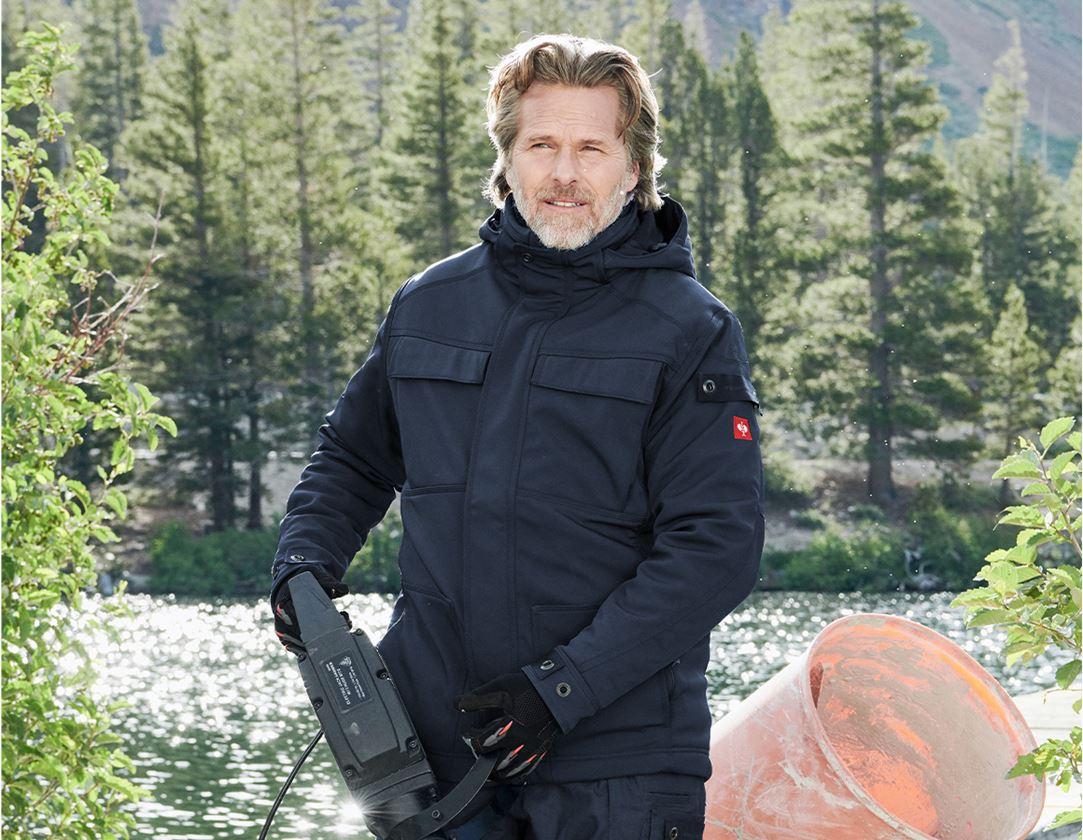 Work Jackets: Winter softshell jacket e.s.roughtough + midnightblue