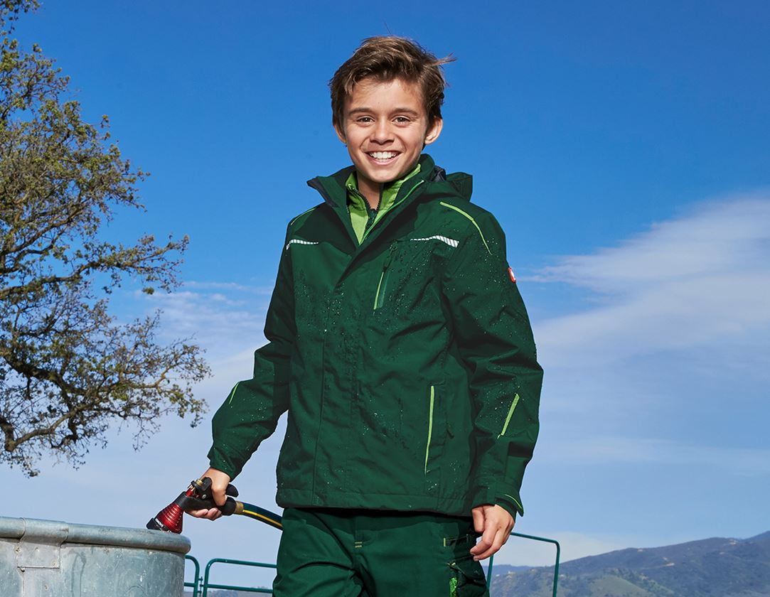 Jackets: 3 in 1 functional jacket e.s.motion 2020,  childr. + green/seagreen