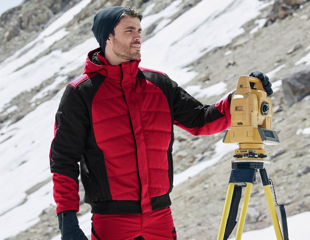 Arbetsjackor: Vinter softshelljacka e.s.vision + röd/svart