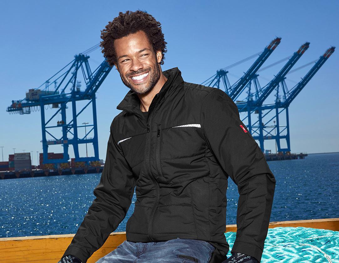 Work Jackets: Windbreaker e.s.motion denim + black