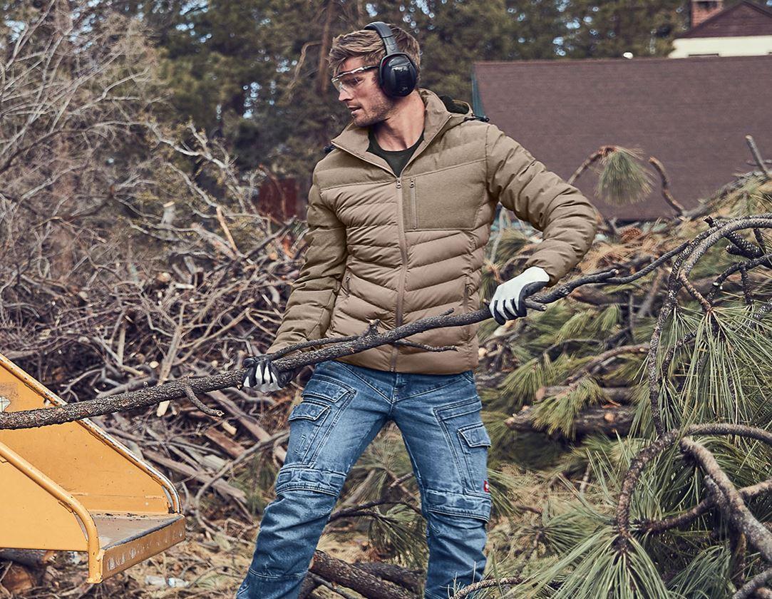 Work Jackets: Winter jacket e.s.motion ten + ashbrown