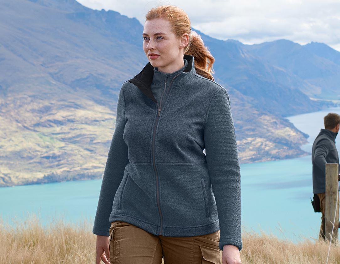 Work Jackets: Loden jacket e.s.vintage, ladies' + arcticblue