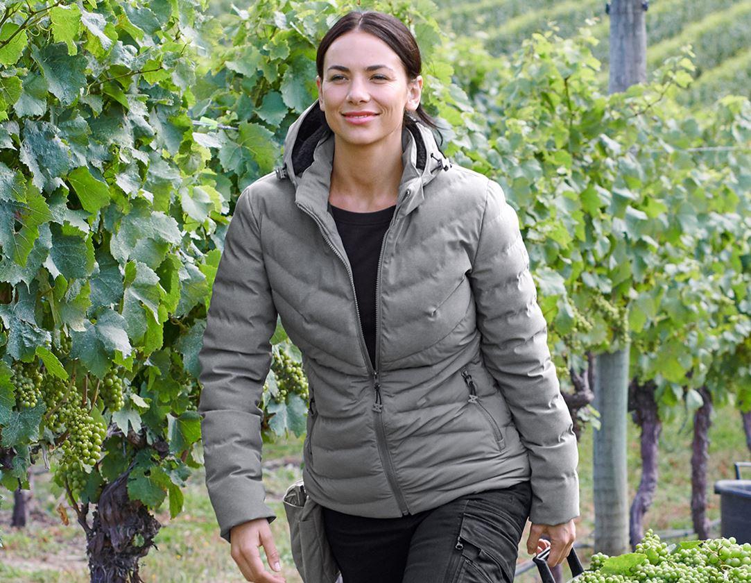 Work Jackets: Winter jacket e.s.motion ten, ladies' + granite