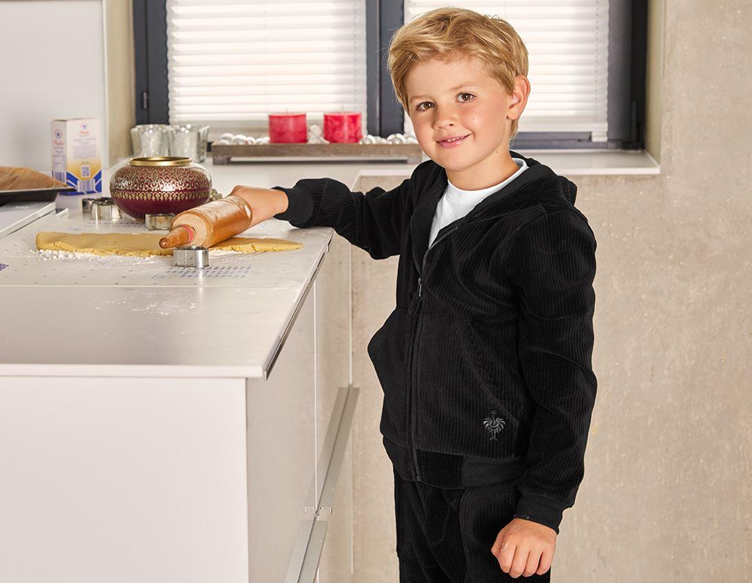 Accessories: e.s. Homewear jacket, children's + black