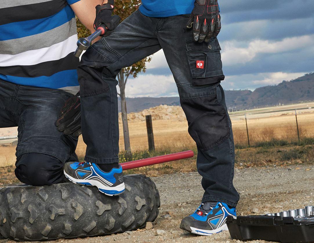 Byxor: Jeans e.s.motion denim, barn + grafit