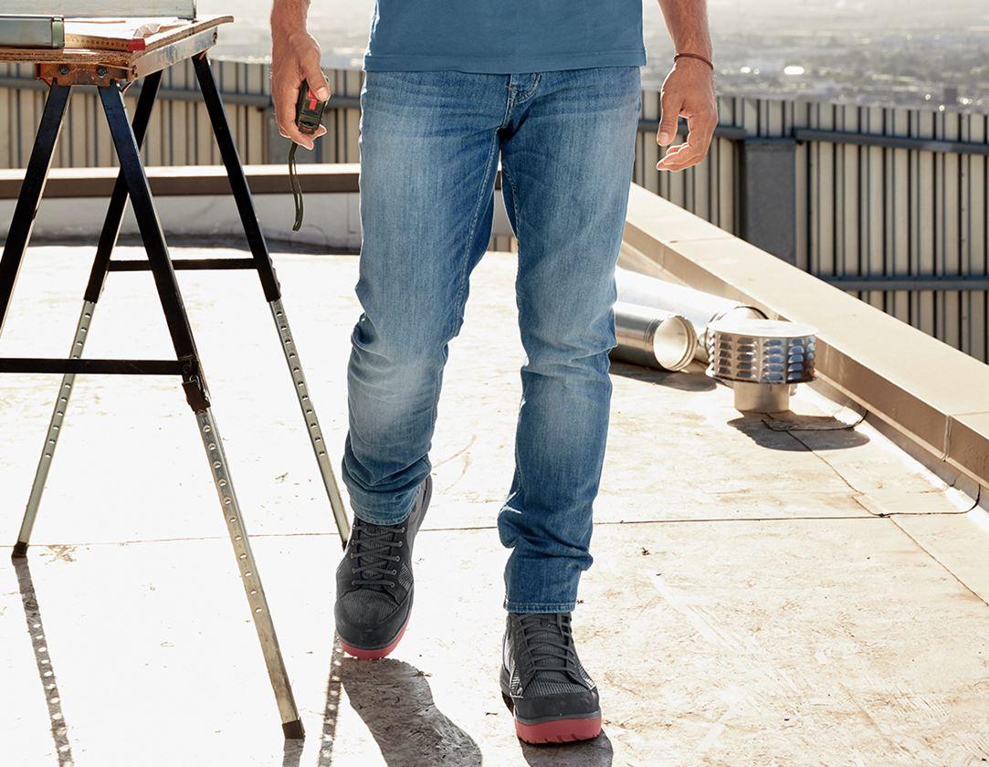 Arbetsbyxor: e.s. 5-fickors-stretch-jeans, slim + stonewashed