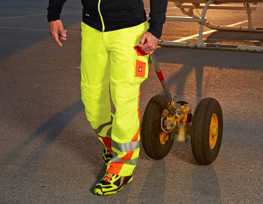 Work Trousers: High-vis trousers e.s.motion 2020 + high-vis yellow/high-vis orange