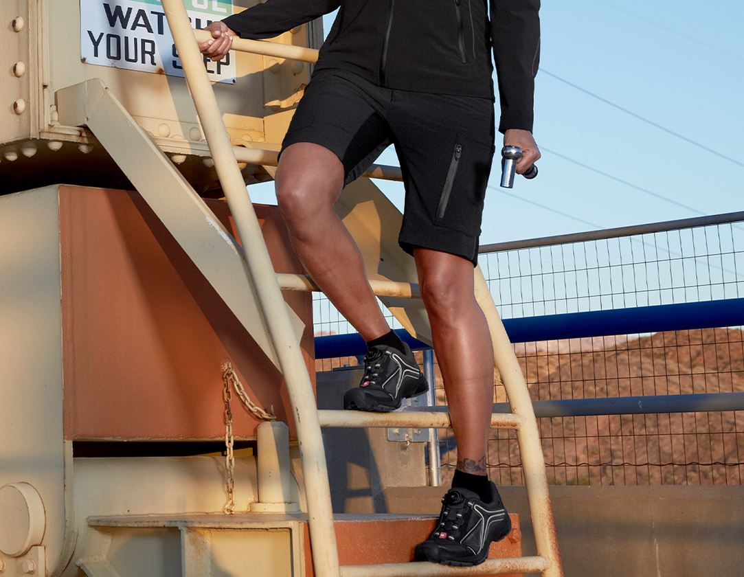 Arbetsbyxor: Shorts e.s.vision stretch, dam + svart