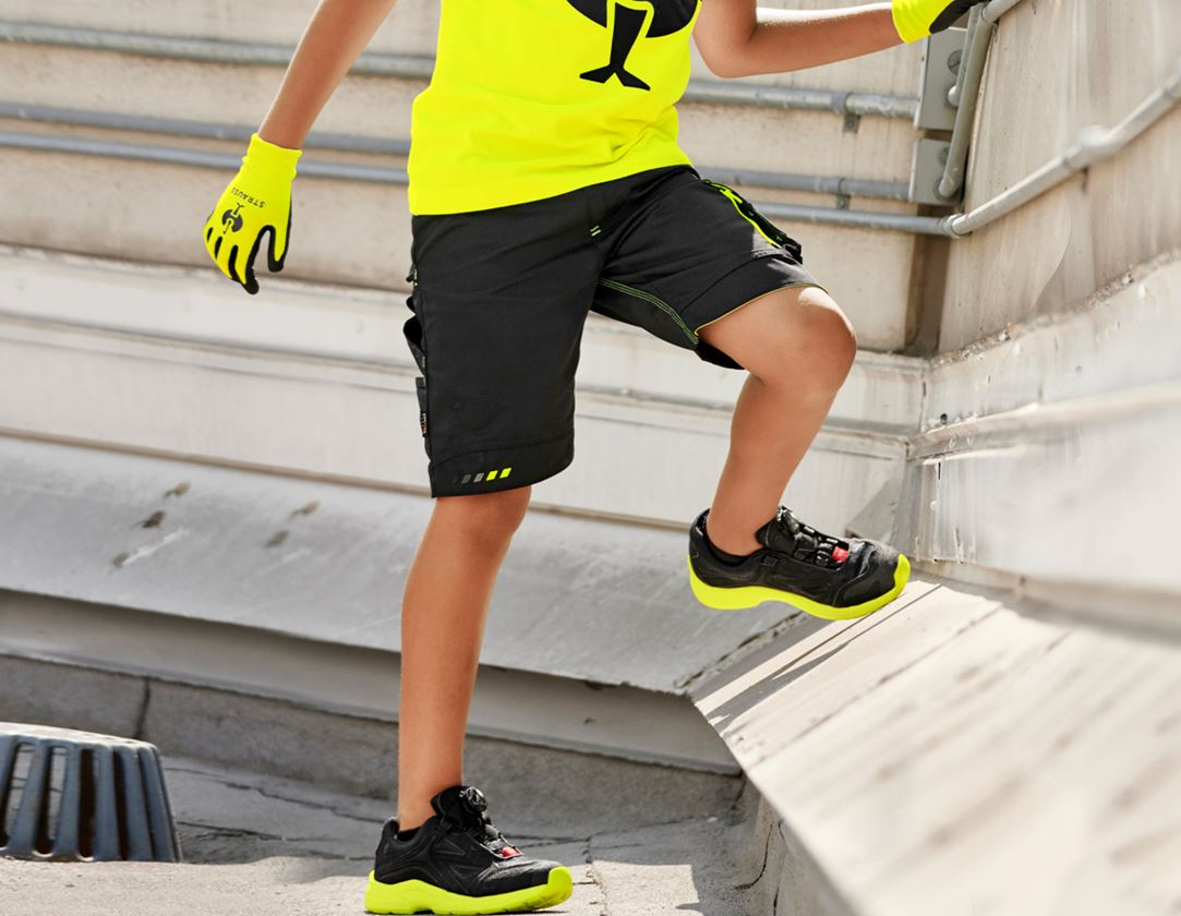 Shorts: Shorts e.s.motion 2020, barn + svart/varselgul/varselorange