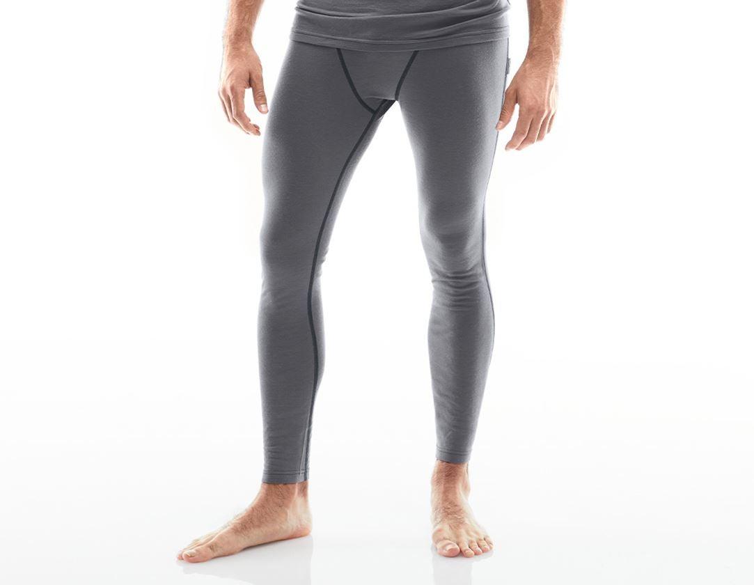 Underkläder |  Underställ: e.s. långkalsong Merino + cement/grafit