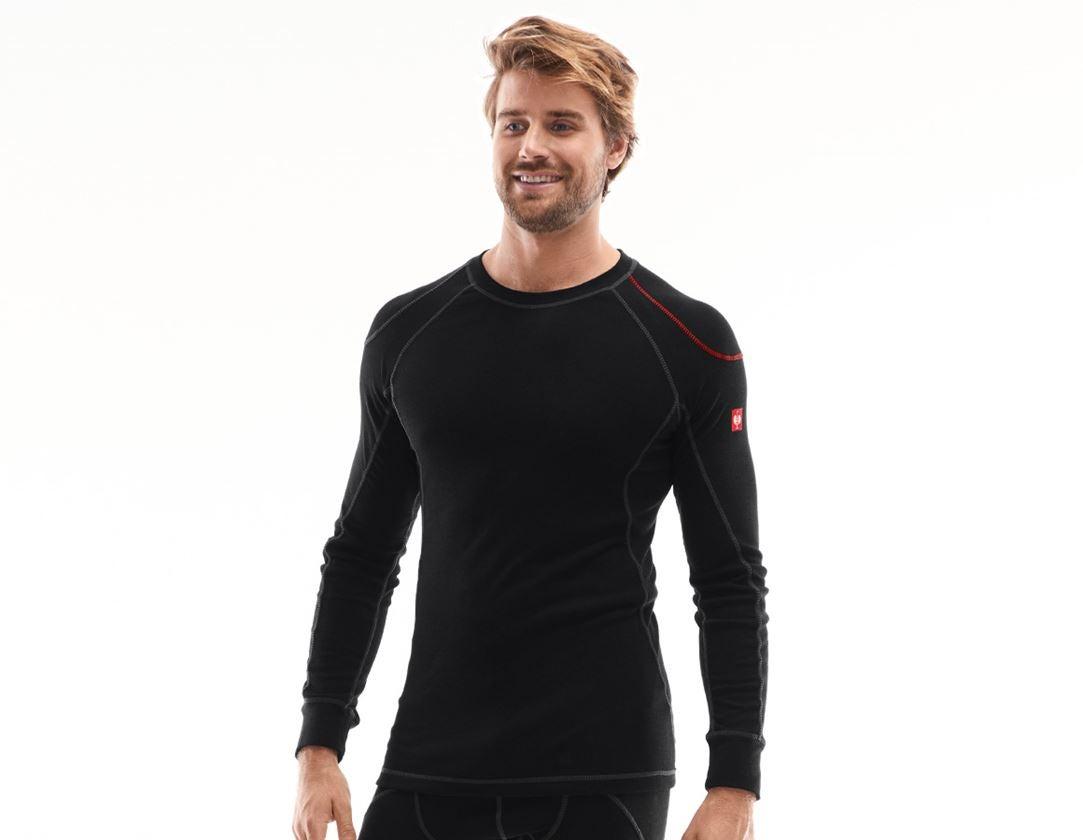 Underkläder |  Underställ: e.s. långärmad topp bas-warm + svart