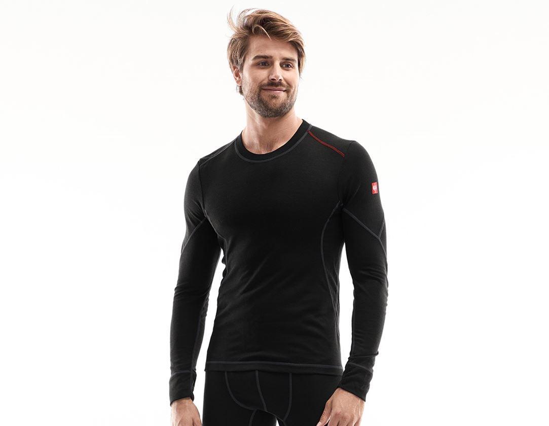 Underkläder |  Underställ: e.s. långärmad topp bas-light + svart