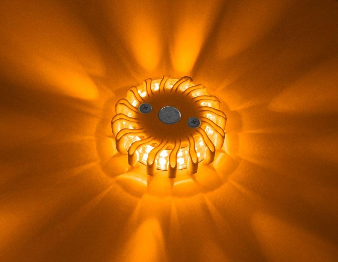 Annat: LED-varningslampa + orange