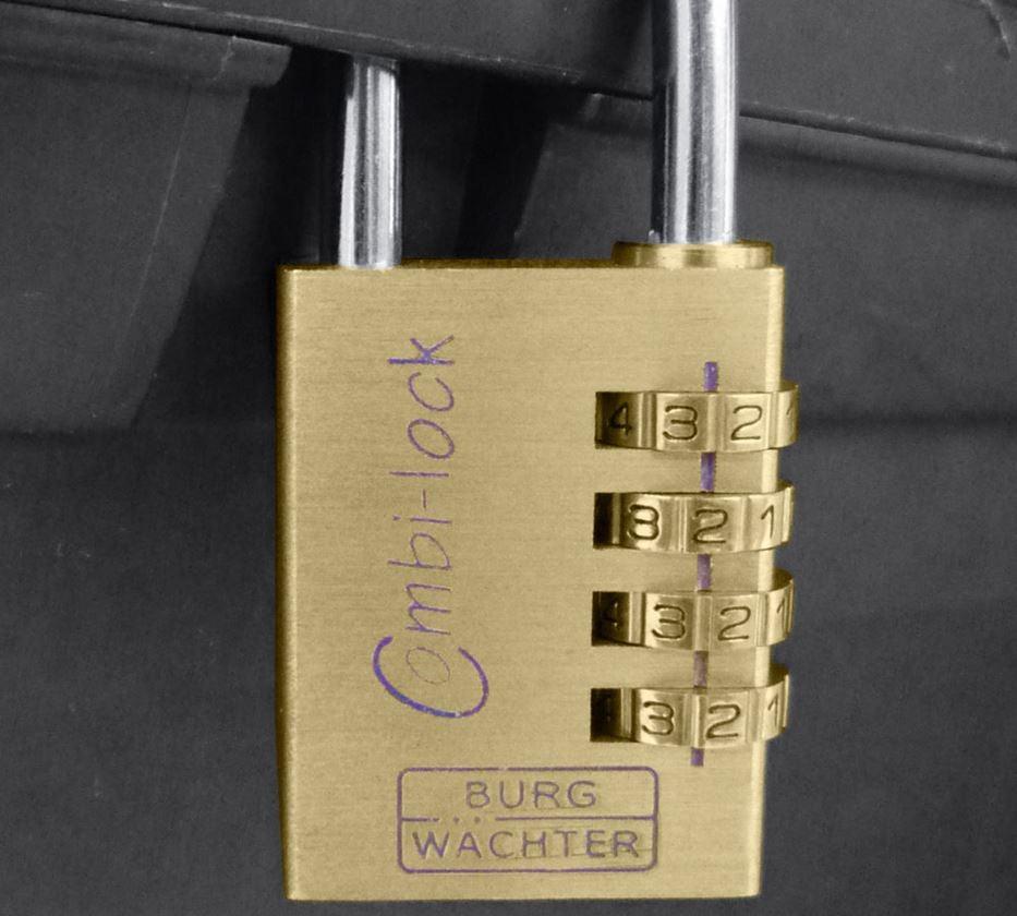 Smådelar: Burg-Wächter säkerhetskombinationslås Combi Lock