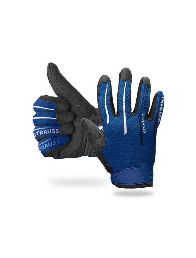 Hybrid: e.s. mekanikerhandskar Sierra + blå/svart