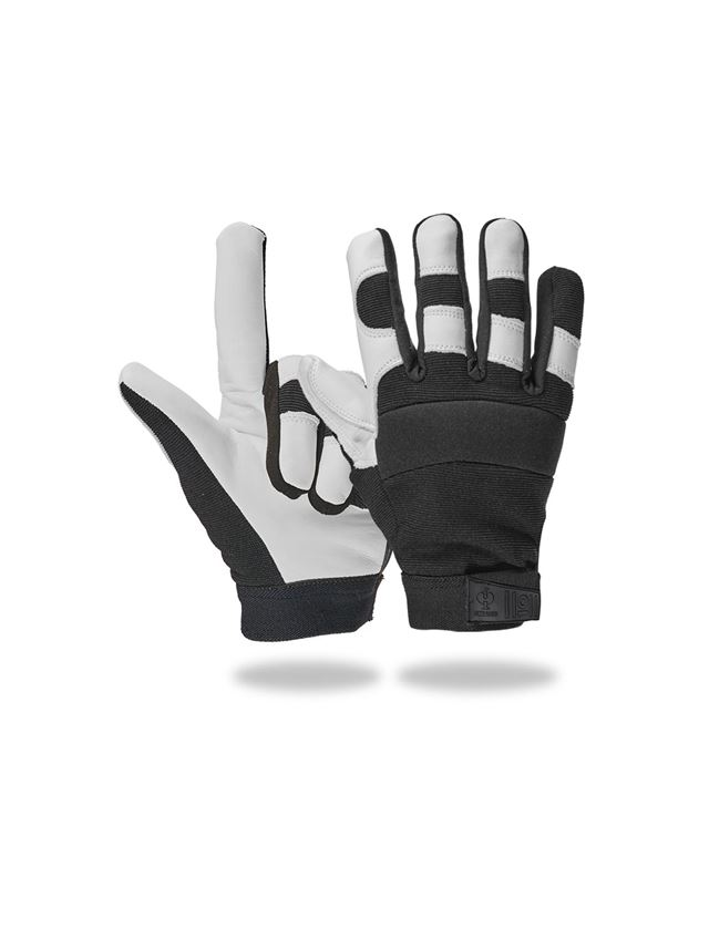Leather: Full leather assembly gloves Ice