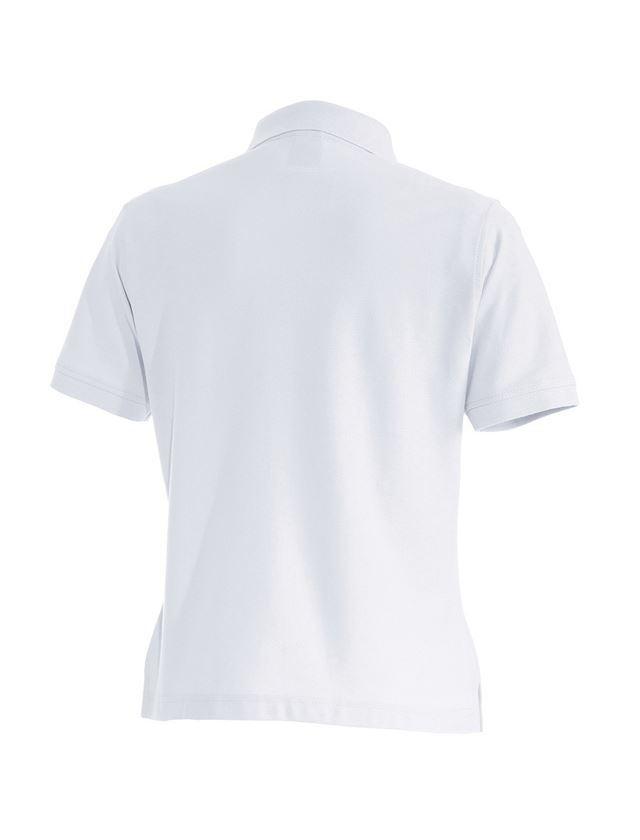Överdelar: e.s. Polo-Shirt cotton, dam + vit 1