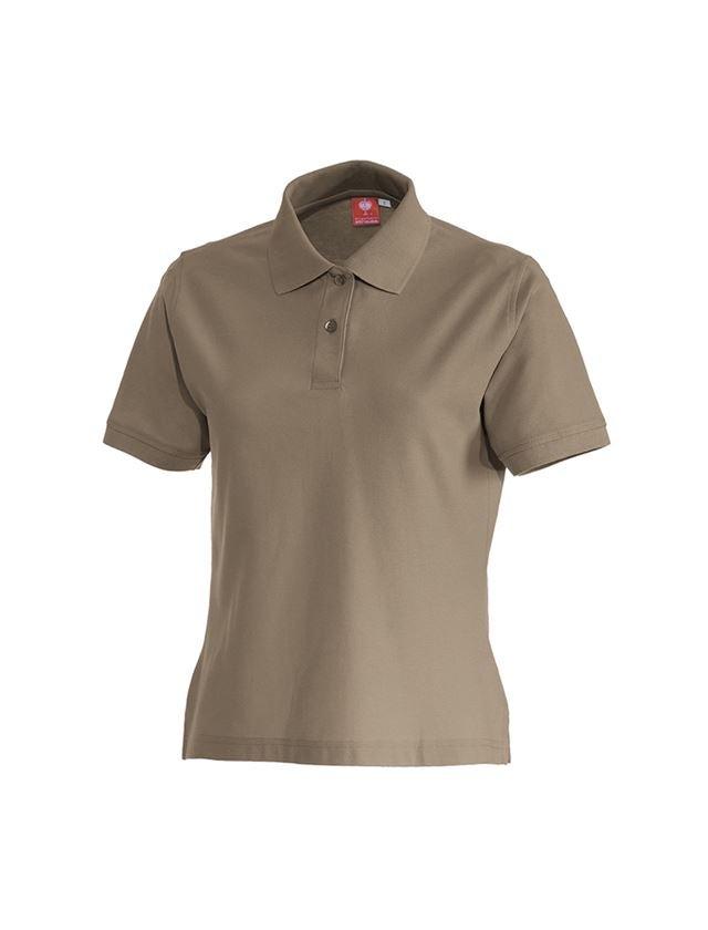 Shirts, Pullover & more: e.s. Polo shirt cotton, ladies' + khaki