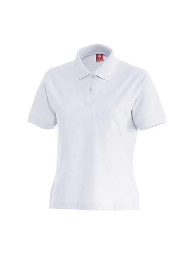 Överdelar: e.s. Polo-Shirt cotton, dam + vit
