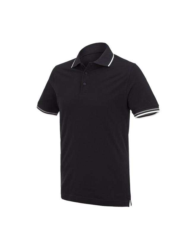 Överdelar: e.s. Polo-Shirt cotton Deluxe Colour + svart/silver