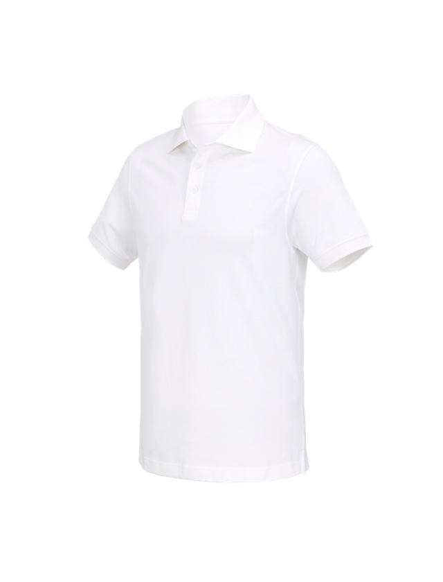 Överdelar: e.s. Polo-Shirt cotton Deluxe + vit