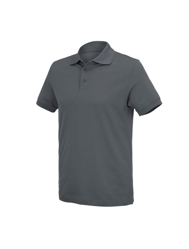 Överdelar: e.s. Polo-Shirt cotton Deluxe + antracit