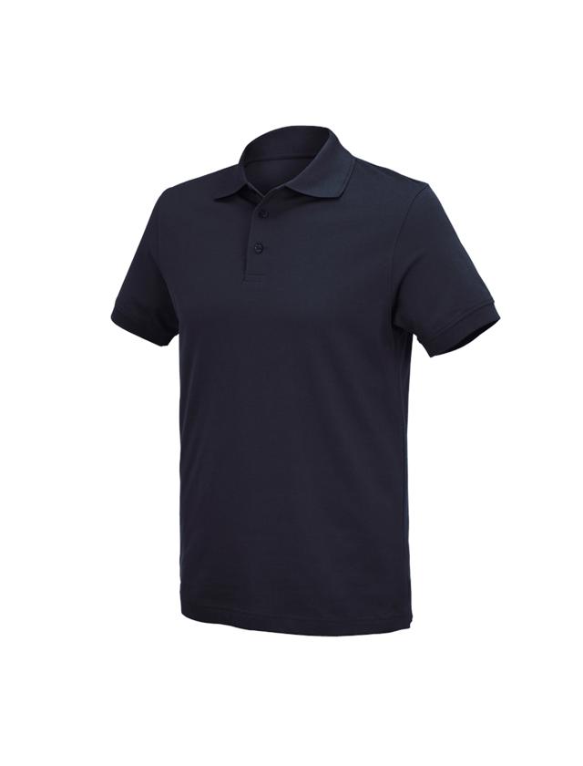 Överdelar: e.s. Polo-Shirt cotton Deluxe + mörkblå