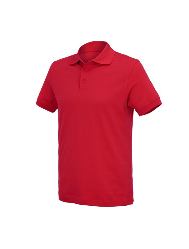 Överdelar: e.s. Polo-Shirt cotton Deluxe + eldröd