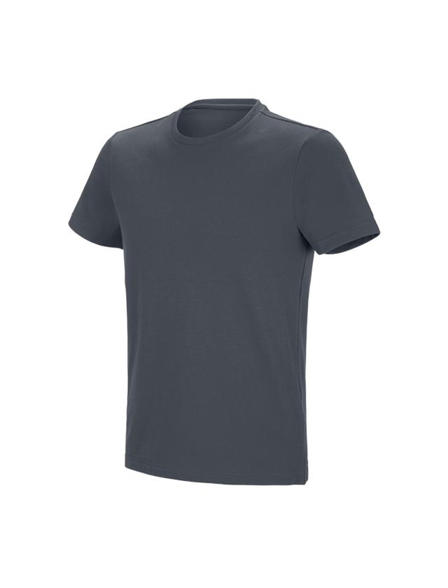 Överdelar: e.s. funktions-t-shirt poly cotton + antracit