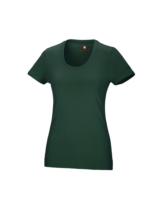 Shirts, Pullover & more: e.s. T-shirt cotton stretch, ladies' + green
