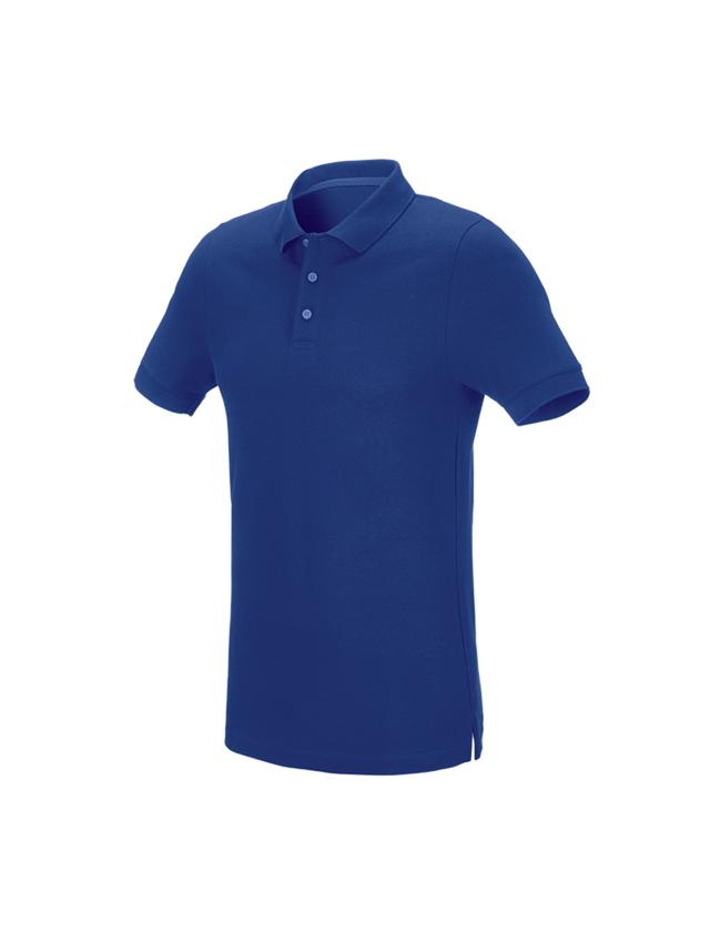 Överdelar: e.s. Pique-Polo cotton stretch, slim fit + kornblå