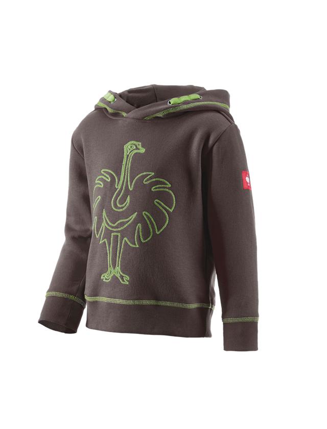Överdelar: Hoody-Sweatshirt e.s.motion 2020, barn + kastanj/sjögrön