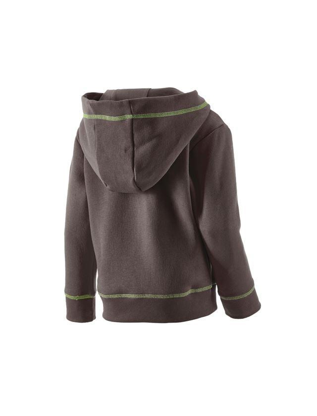Överdelar: Hoody-Sweatshirt e.s.motion 2020, barn + kastanj/sjögrön 2