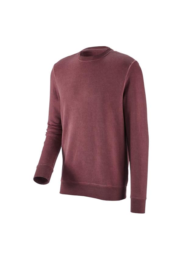 Överdelar: e.s. Sweatshirt vintage poly cotton + rubin vintage